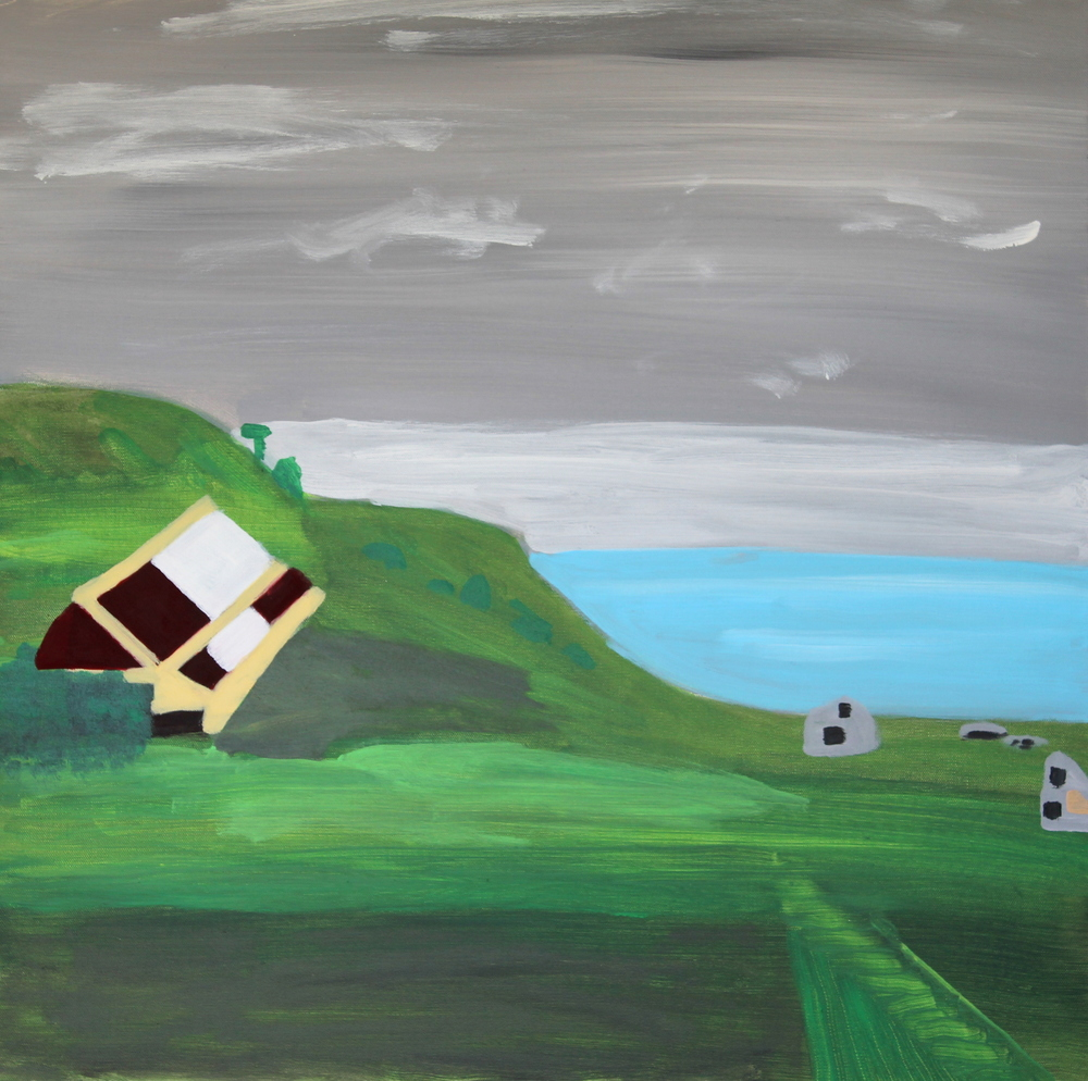 CHATHAM ISLANDS, ACRYLIC ON CANVAS, 76 X 76CM