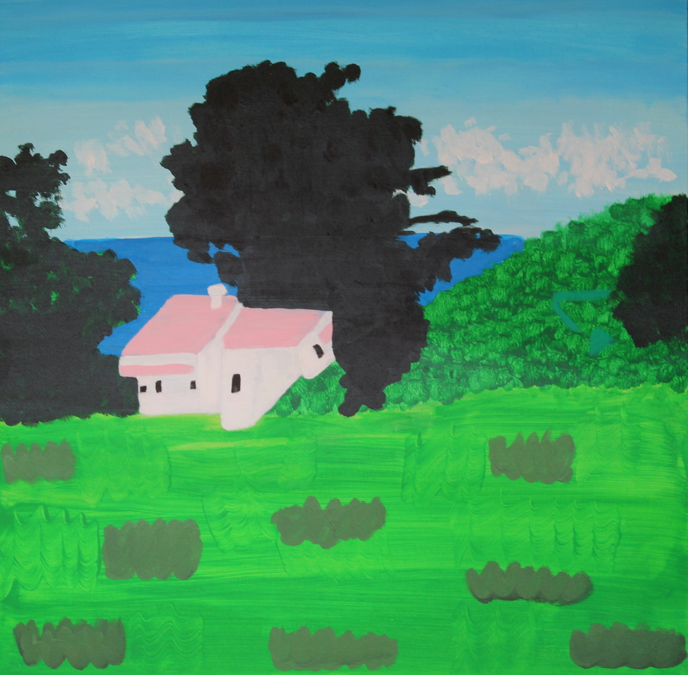 ON TIRITIRI MATANGI ISLAND, ACRYLIC ON CANVAS, 76 X 76CM