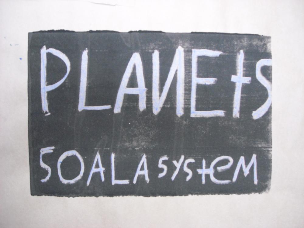 MONOPRINT - PLANETS