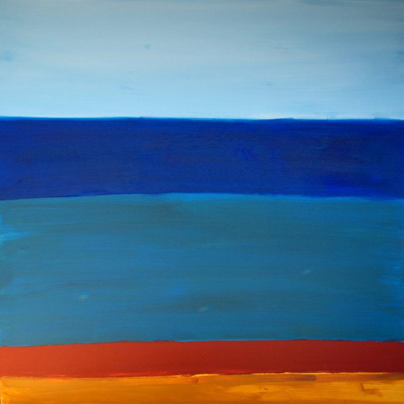 Sea fish middle Acrylic on canvas TRIPTYCH MIDDLE Yaniv Janson.JPG