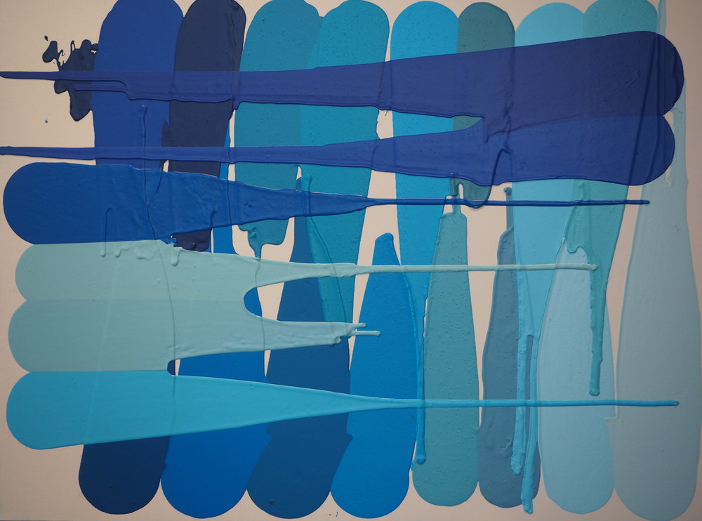 Out of the Blue - Acrylic on Canvas, 101cm X 76cmPart of Project22, this painting is about my favourite colour.