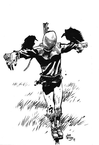 scarecrow inktober.jpg