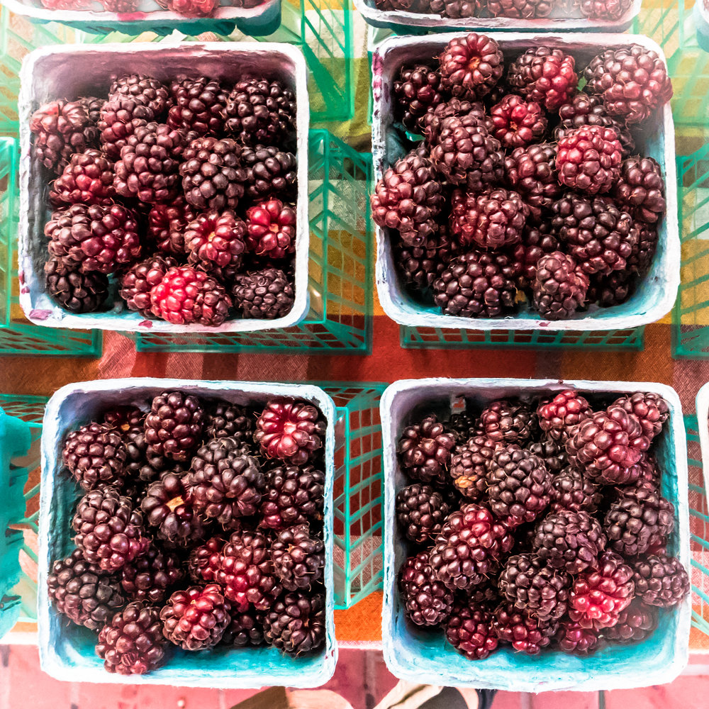 Beautiful Berries at the UN Plaza Farmers Market.