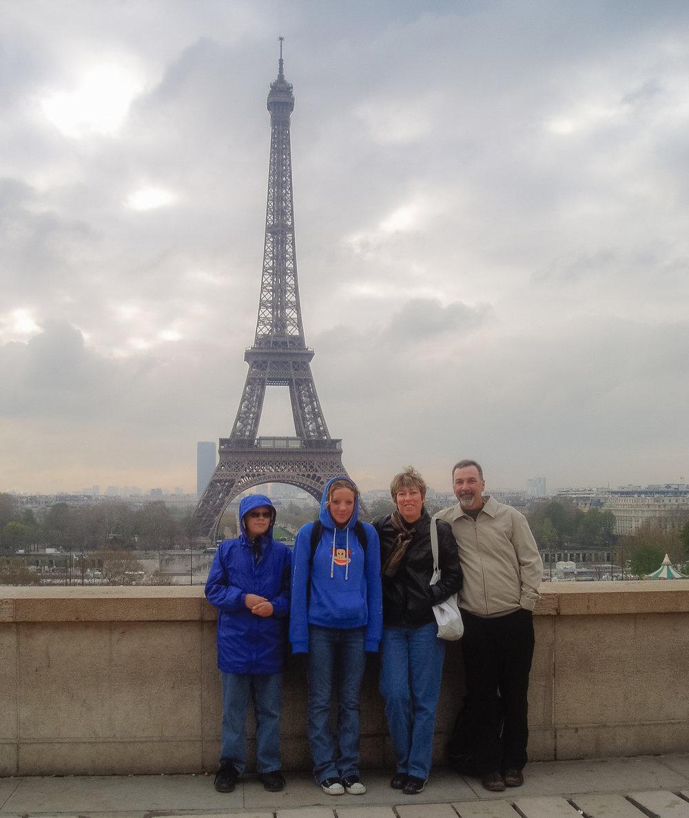 A cloudy springtime Paris, 2004.