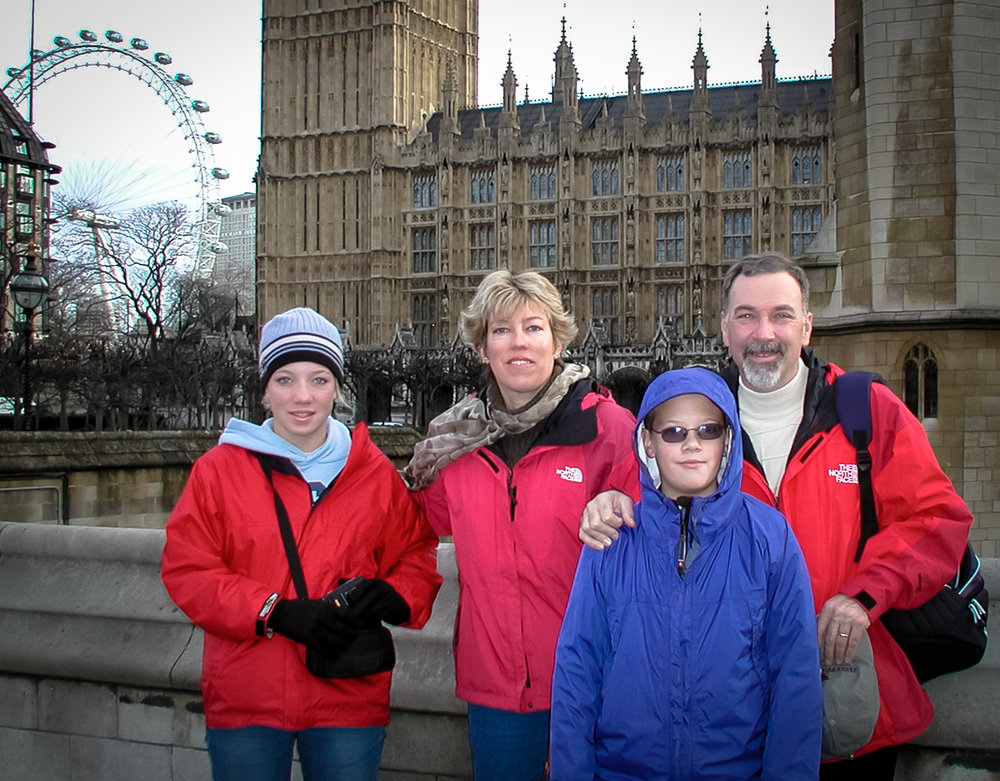 London is Calling at Big Ben, Thanksgiving 2003.