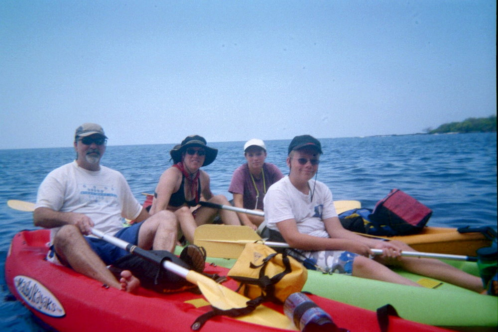 On the water in Cook's Bay, The Big Island of Hawaii, 2005