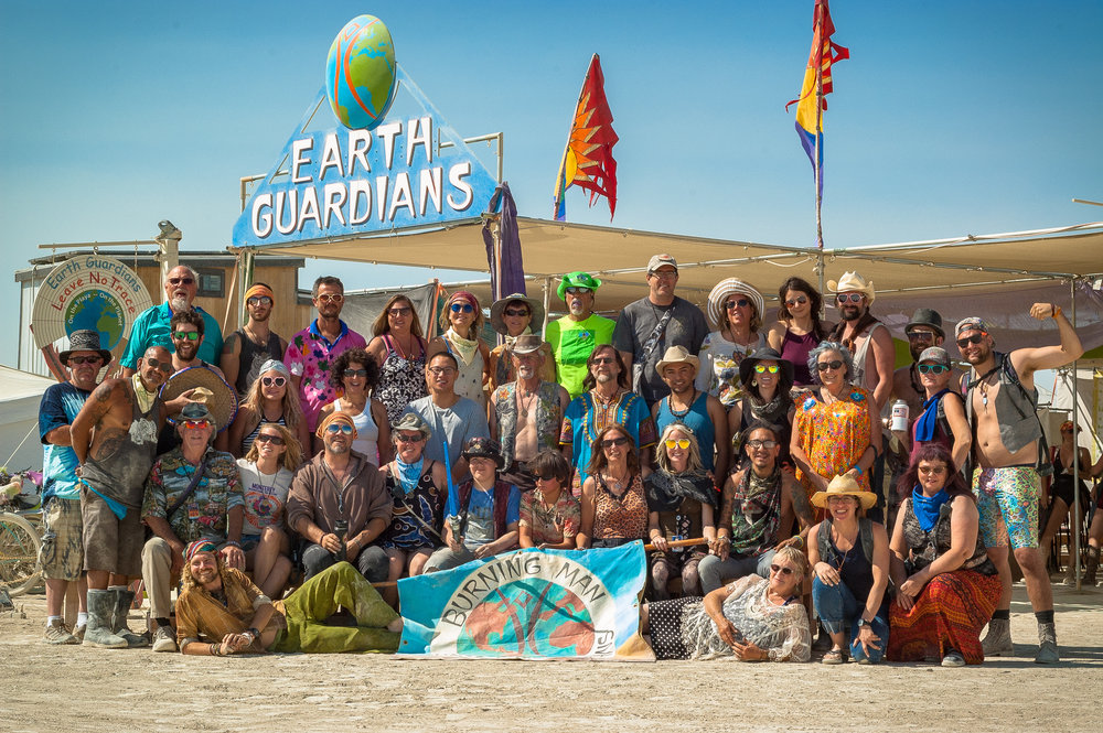Earth Guardians Group Photo, Burning Man 2017