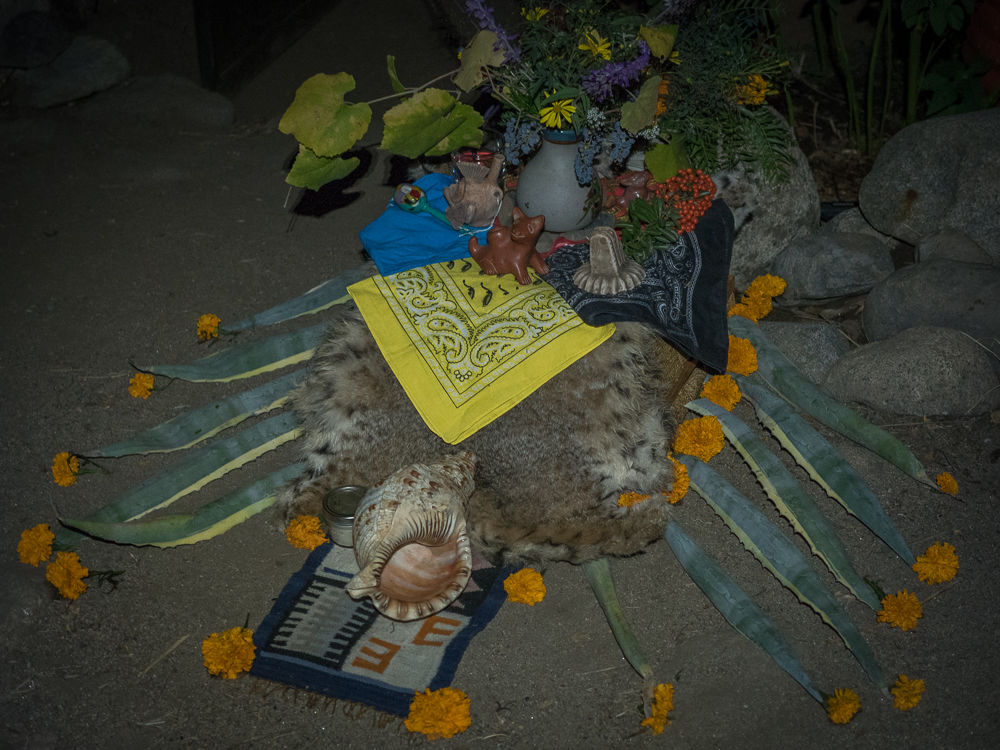 Altar outside the sweat lodge.