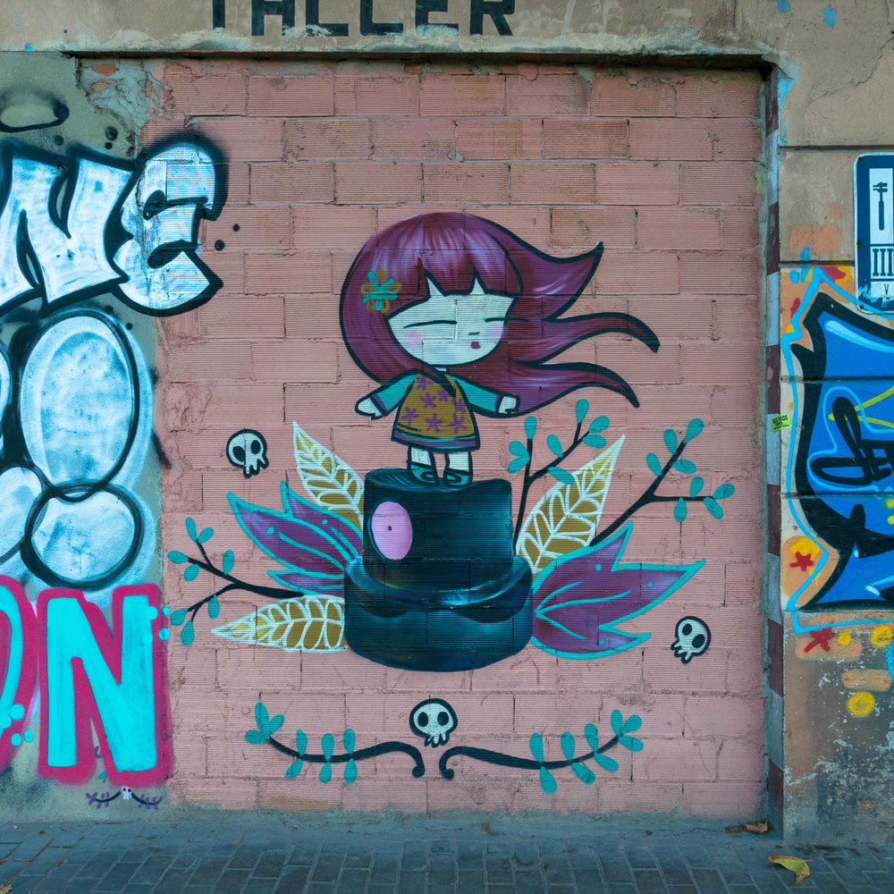 "Street art in the old part of Valencia by ""Juliea"""
