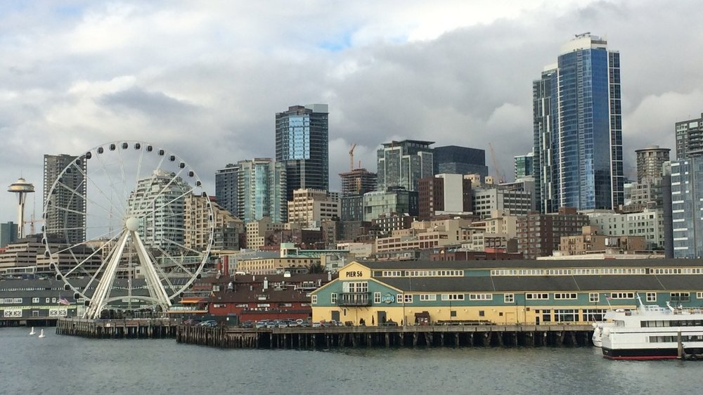 Day 1. My view of Seattle from the Washington State Ferry.