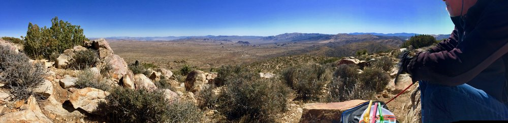 A picnic view as far as the eye can see,from the top of Ryan Mountain.