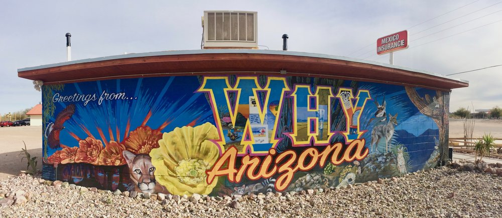 Just north of Organ Pipe National Monument - the Why Not Travel Center in Why, Arizona.