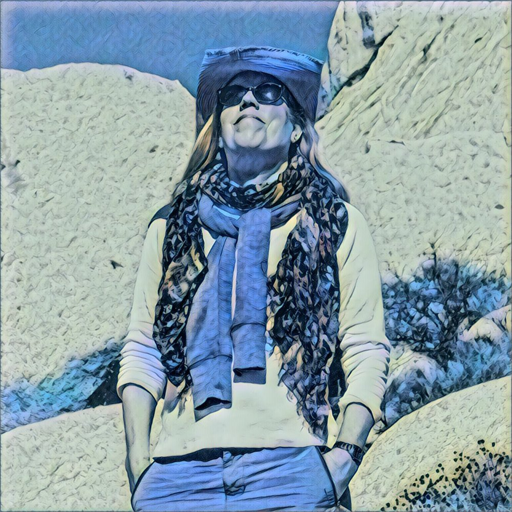 2018 - Me at Joshua Tree National Park, Artwork by my sister Susan Wiersema.
