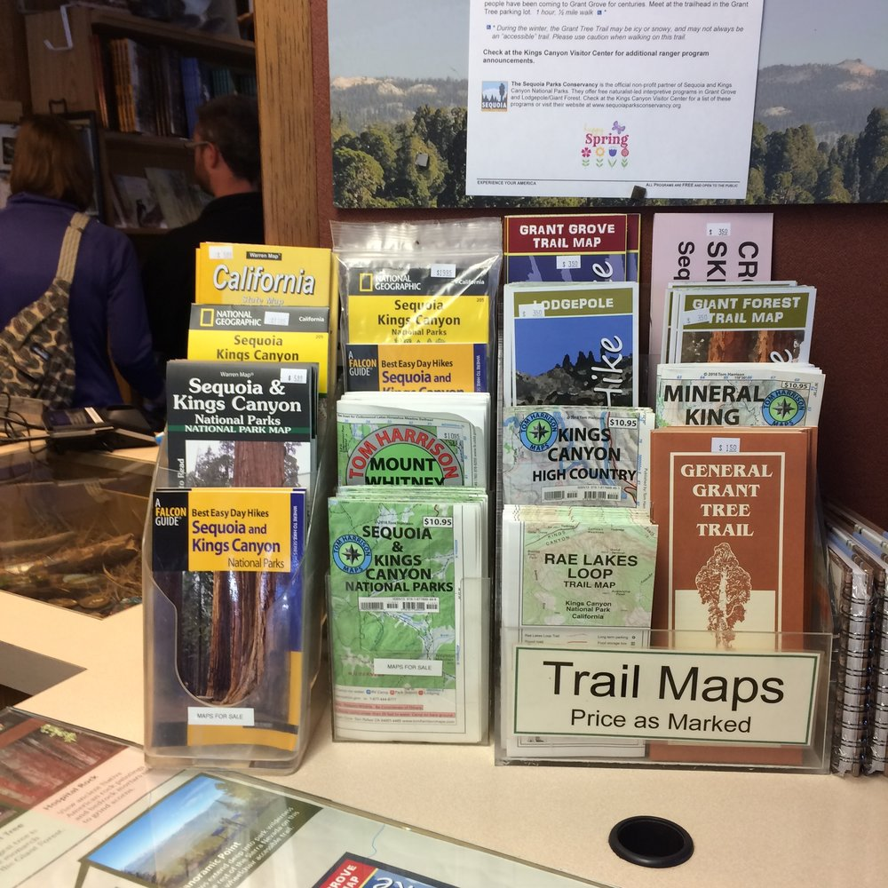 Hiking maps - and dreams... 54 parks to go.