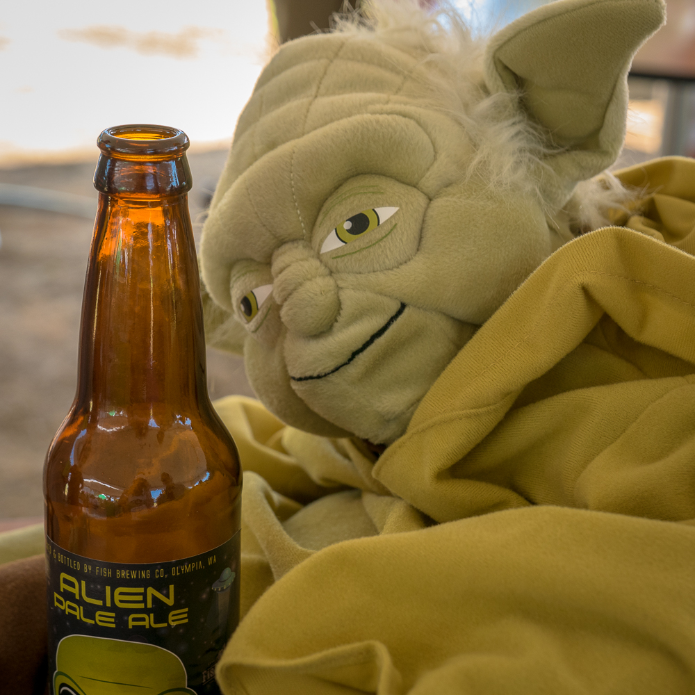 Yoda looks like he had one too many.