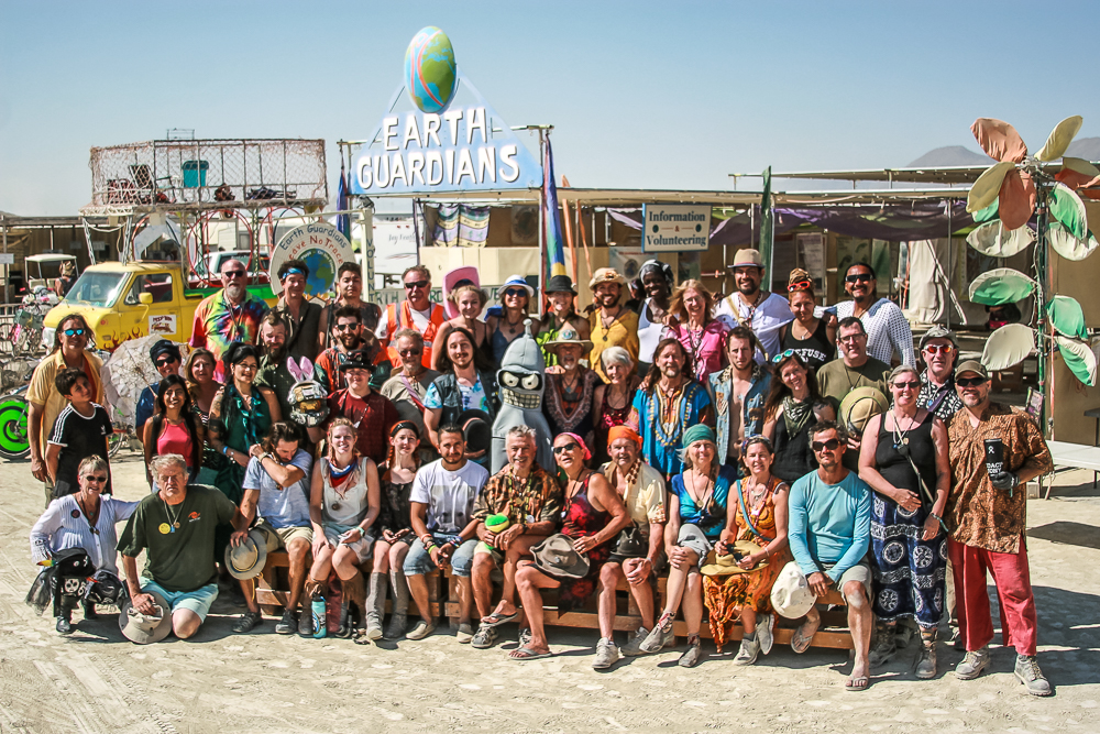 Earth Guardians, Burning Man 2018. You are the best! Thank you for a great burn.