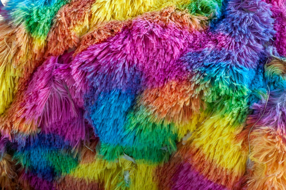 Rainbow fur is always in fashion at Burning Man. But in the real world? Maybe not.