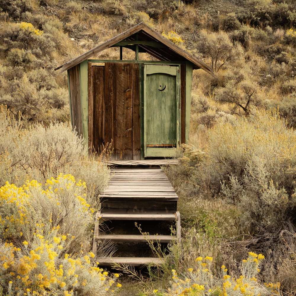 Outhouse across the road was our Spences Bridge neighbor.