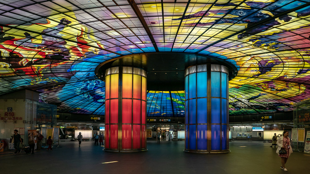The Dome of Light, Formosa Metro Station, Kaohsiung, Taiwan