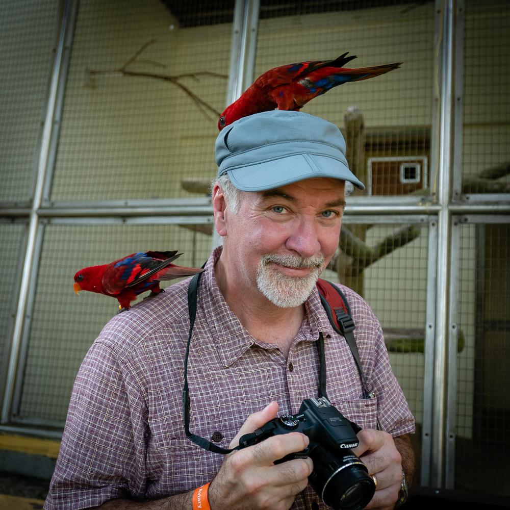 My favorite birder is making new friends.