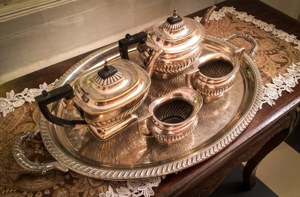 A historic silver tea set from colonial Fraiser's Hill.