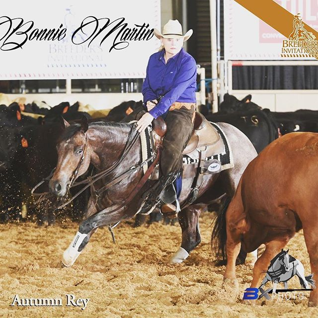 Good luck to Bonnie Martin and Autumn Rey in the Breeders Invitational Classic/Challenge Unlimited Amateur Finals today!! #teamgs #gscuttinghorses #breedersinvitational2017