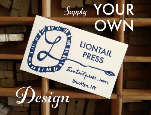 250 Custom Letterpress Business Cards Your Design Liontail Press