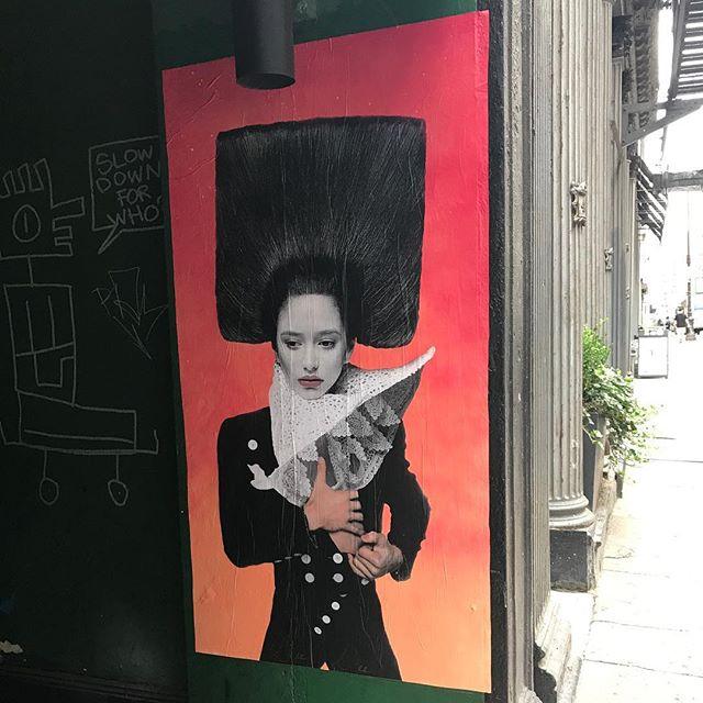 Good morning #onthewaytowork #walkerstreet #nyc #streetart #wheatpaste #summer