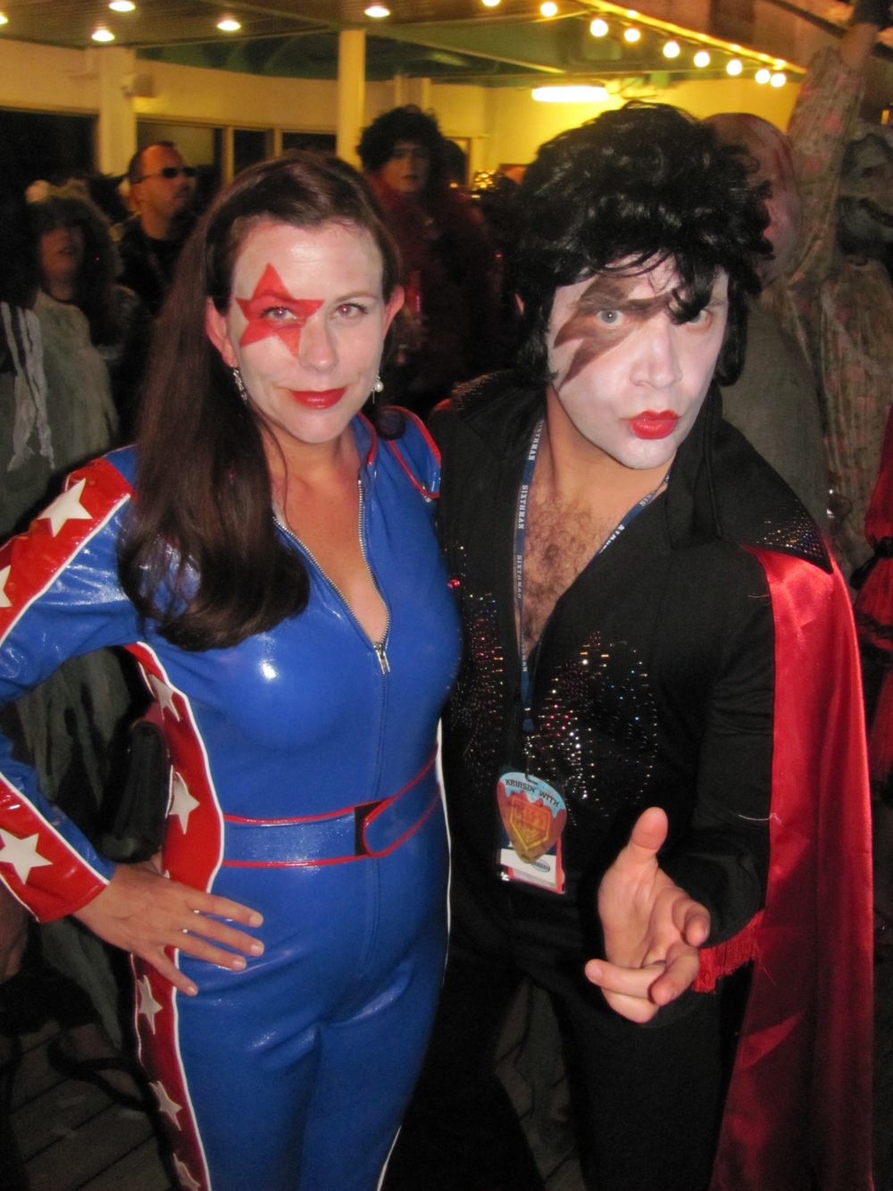My wife Andrea and I donned a Kiss mash-up for the Halloween party.