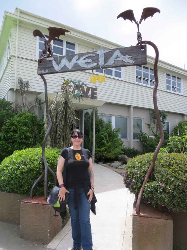 Rebecca Perry at Weta Workshop in Wellington, New Zealand.