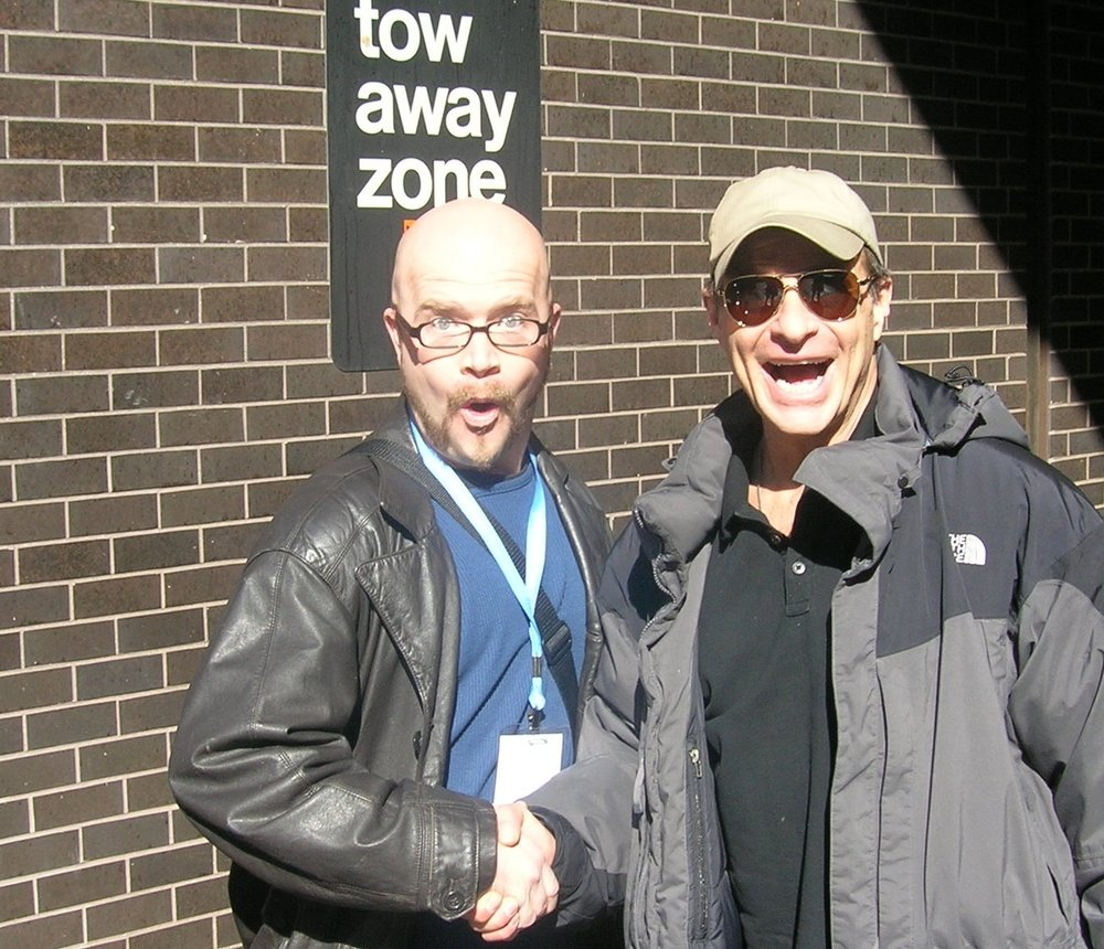 Me and David Lee Roth of Van Halen (right).