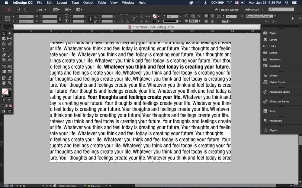 InDesign screenshot