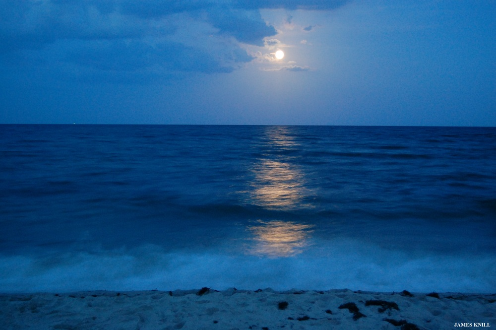 Beachscape Moon Rise