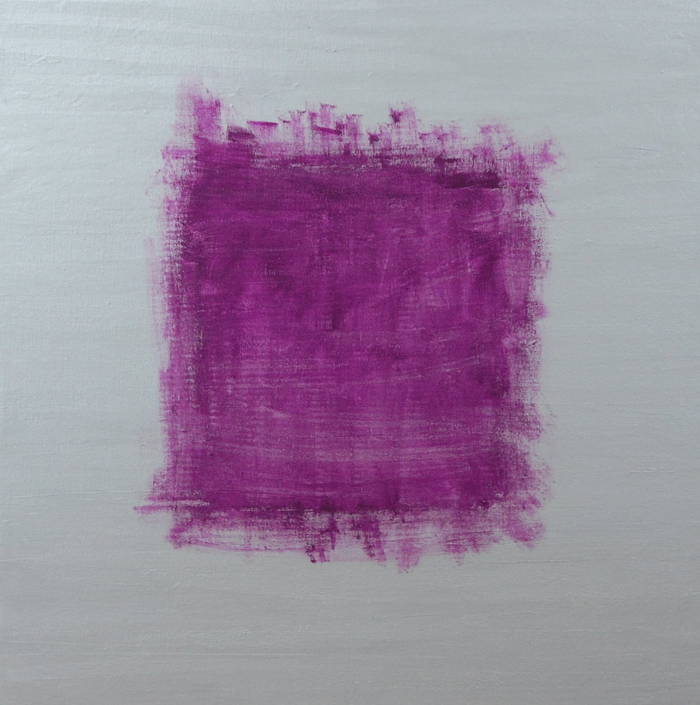 """Silver On Purple"", Mixed Media, 30''x30'', SOLD"