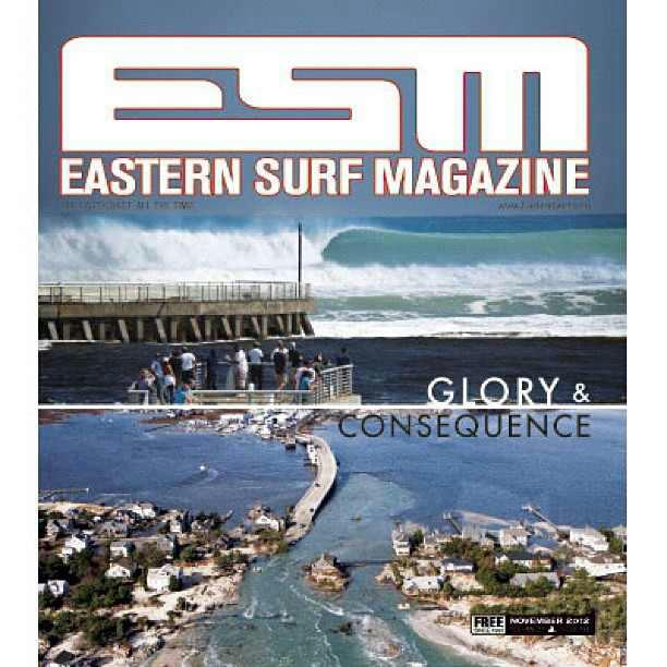 My photograph on the cover of Eastern Surf Magazine. Photography By James Knill