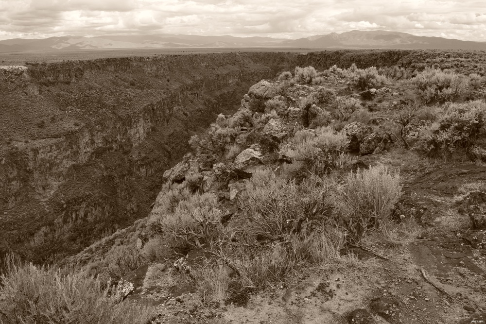 Rio Grande Gorge Sepia