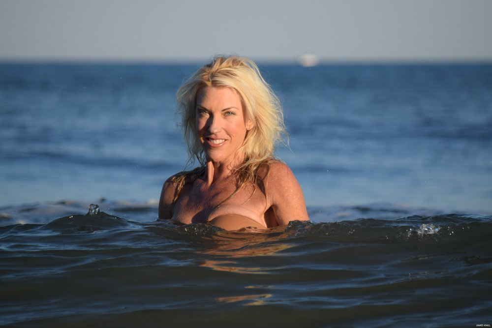 Portrait Photo Shoot In The Ocean. Photography By James Knill