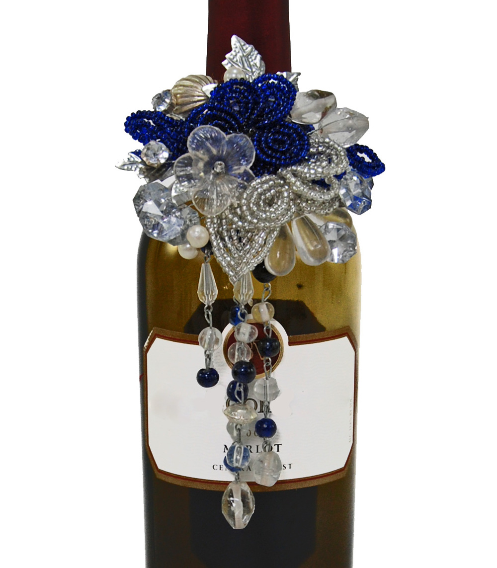 Azure Wine Bottle Jewelry  R-14-536423