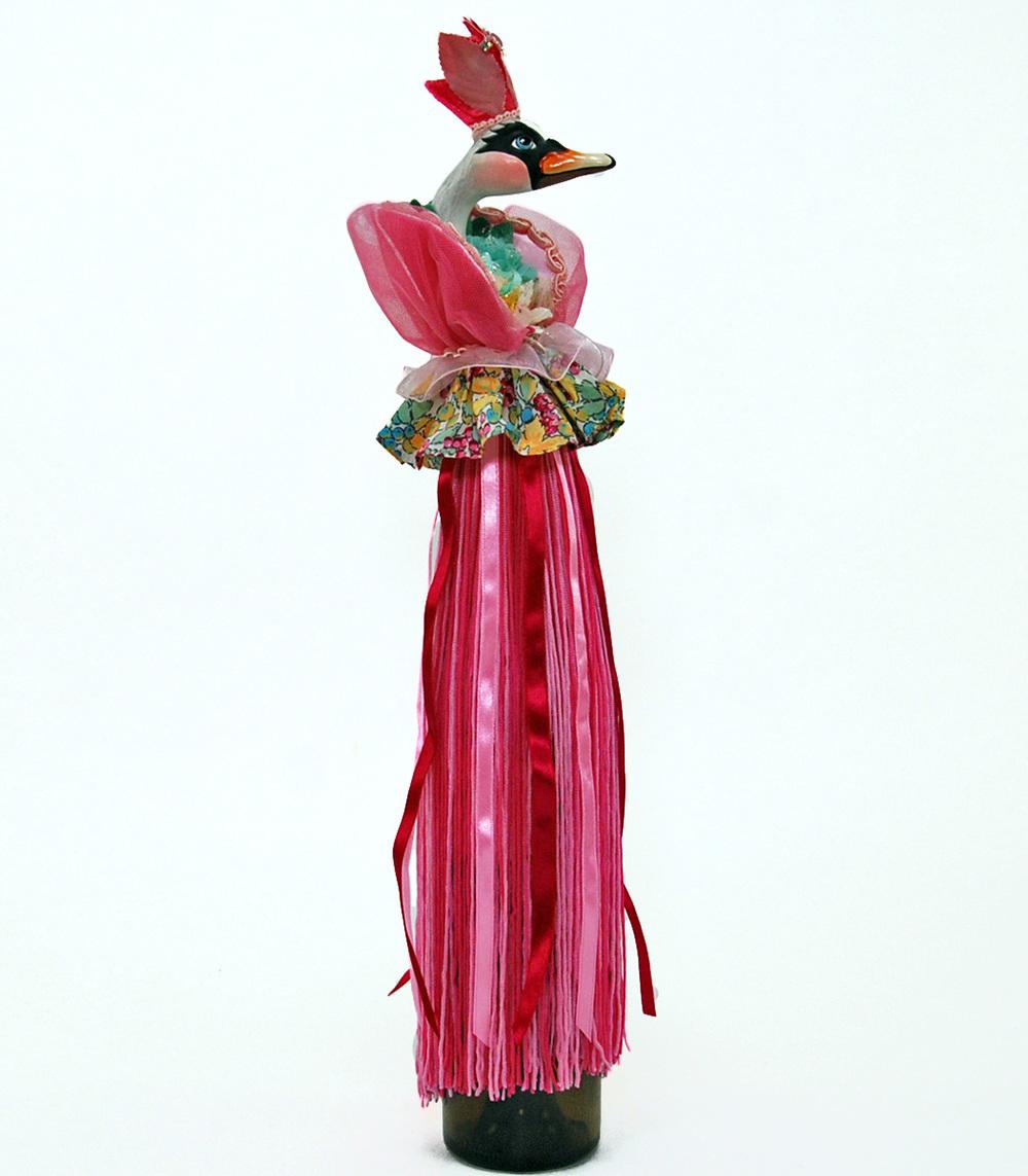 Pirouette Swan Wine Tassel  11-540141