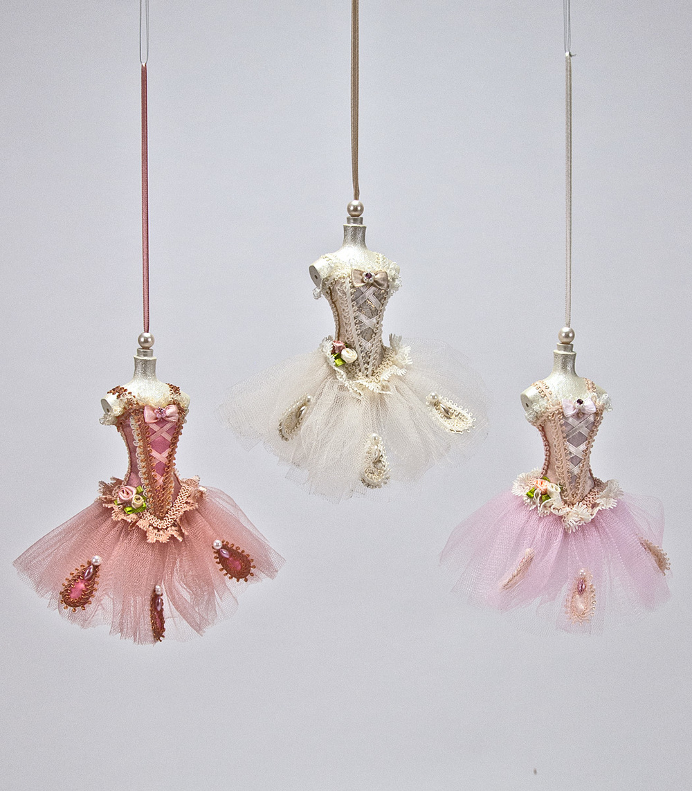 Pirouette Dress Ornament - Assortment Of 3  18-584464