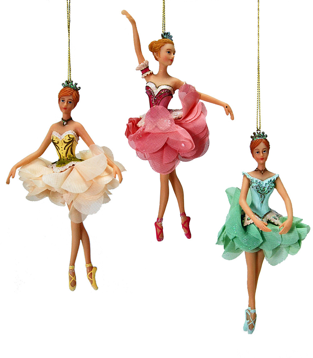 Pirouette Ballerina Ornament - Assortment Of 3  22-524708