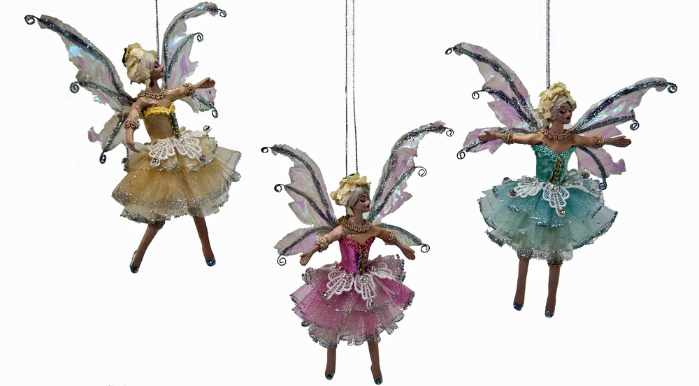 Pirouette Fairies Ornament - Assortment Of 3  28-530479