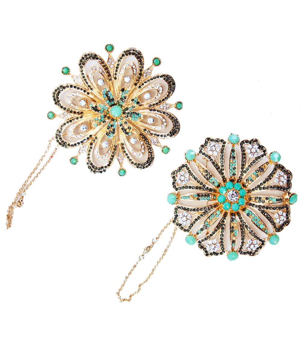 Celestial Jewel Ornament/Brooch Assortment Of 2  18-638001