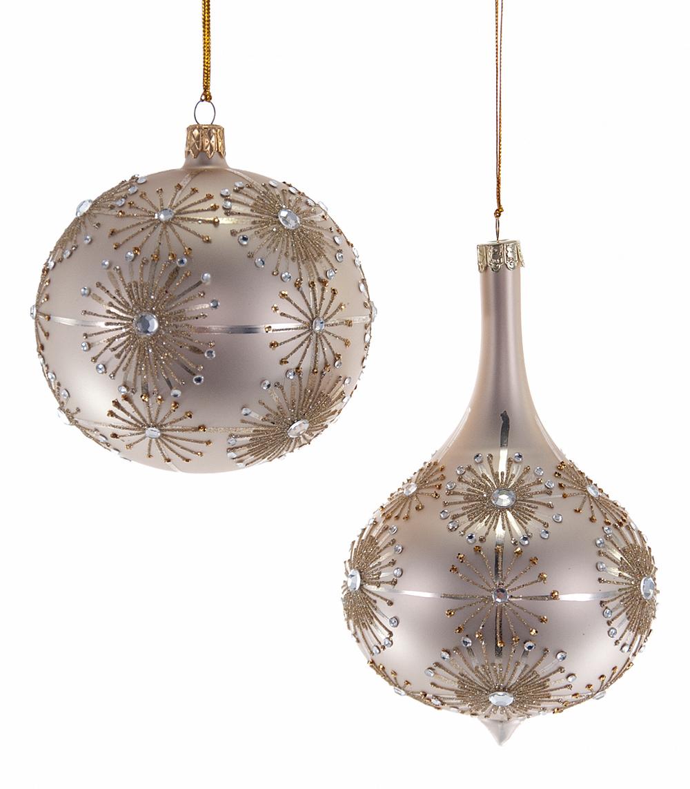 Starburst Bauble Ornament Assortment Of 2  02-631017