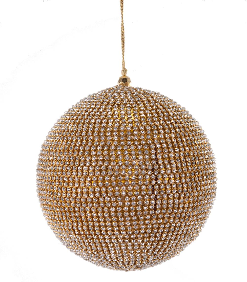 Gilded Rhinestone Ball Ornament  632005