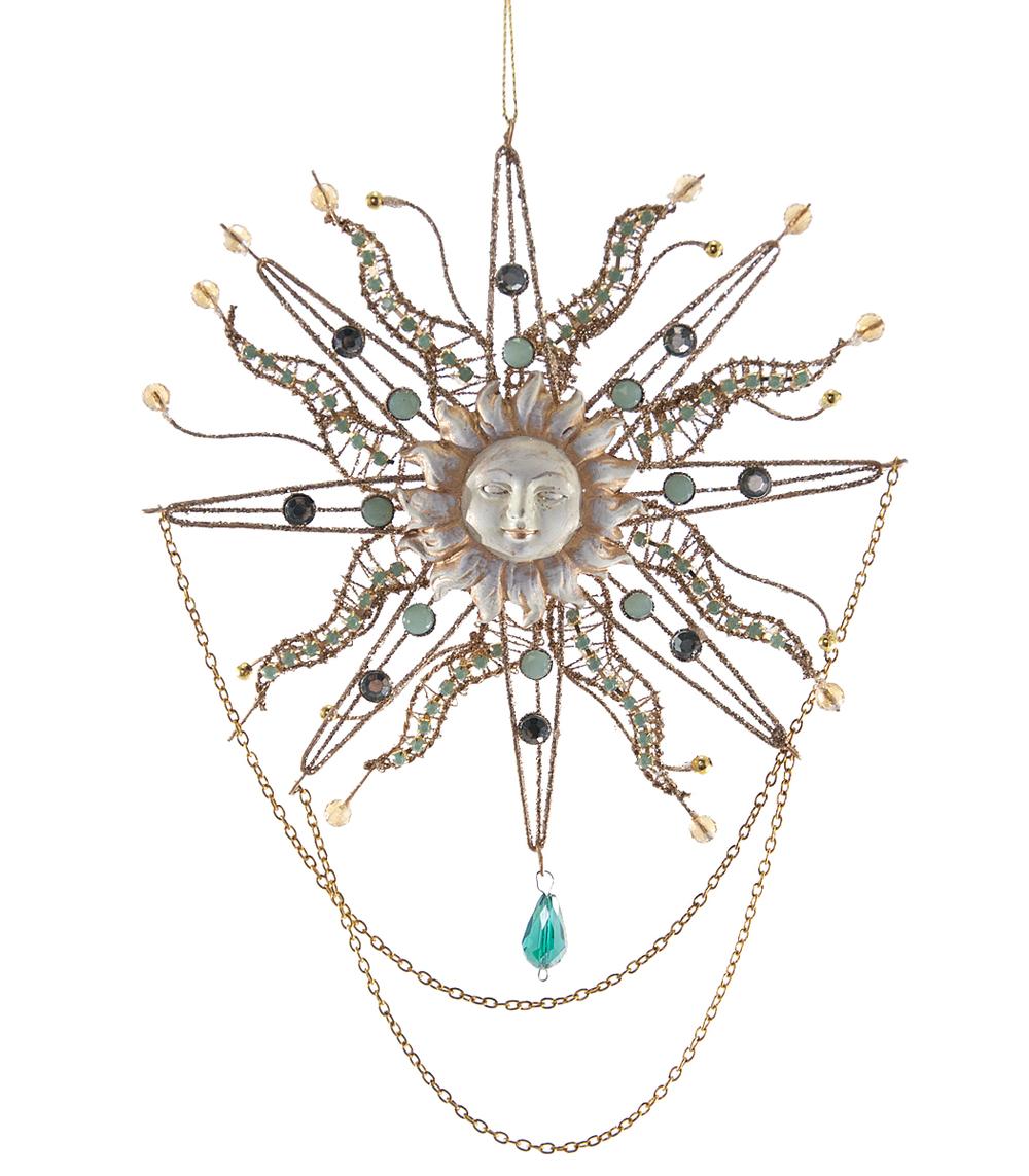 Wire Sun Ornament  08-683020