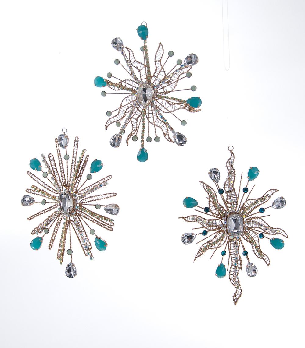 Celestial Star Ornament Assortment Of 3  08-683033