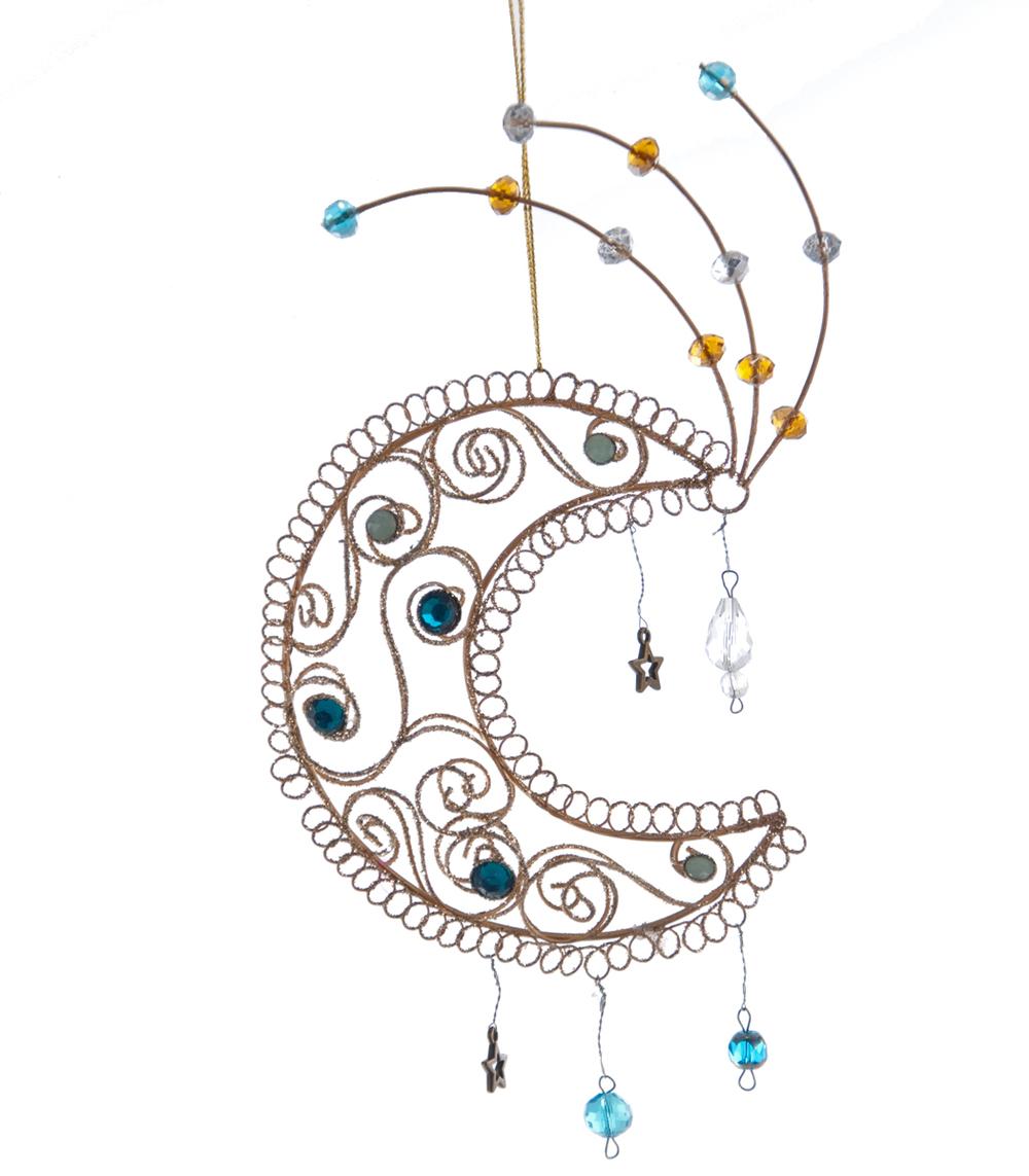 Crescent Moon Ornament  08-683035