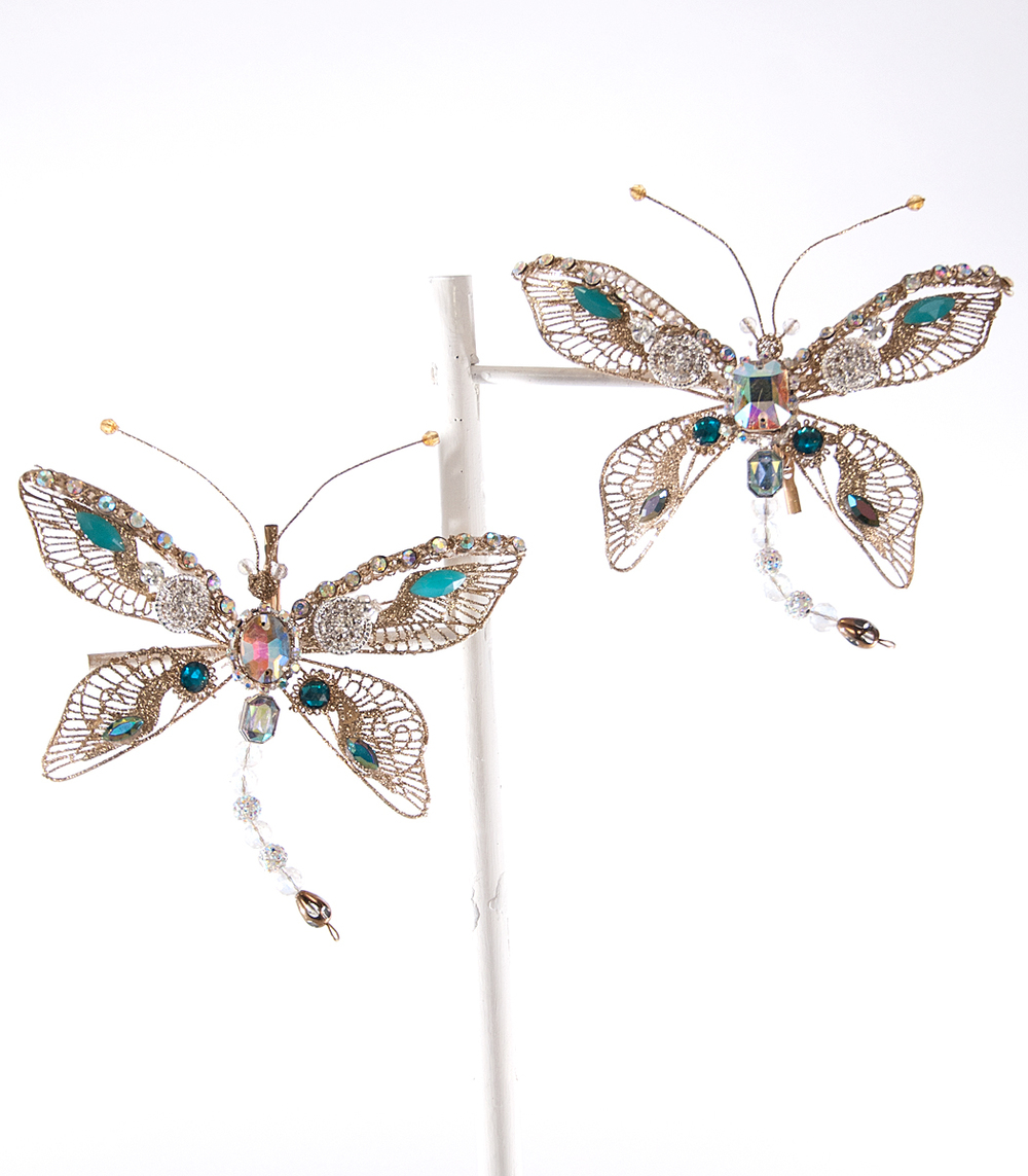 Dragonfly Clip Ornament Assortment Of 2  08-683042