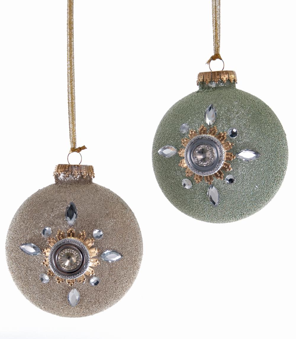 Celestial Micro Bead Ornament Assortment Of 2  08-685029